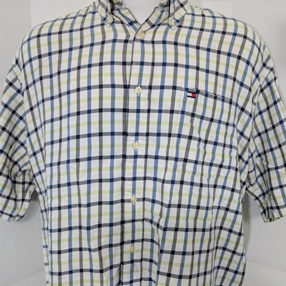 57c60745 Tommy Hilfiger Shirts | Short Sleeve Tattershall Shirt Xl | Poshmark